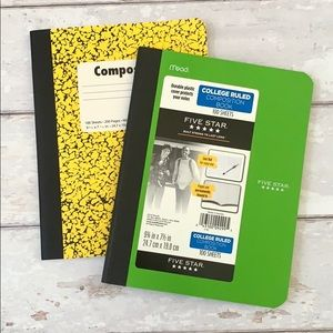 Five Star Composition Book Wide & Collage Rule